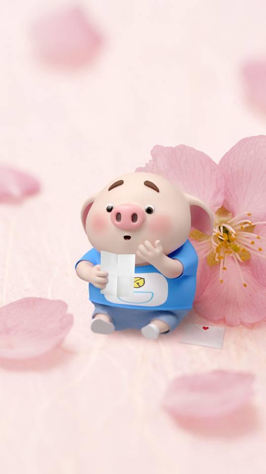 Hình nền chú lợn hồng ủn ỉn trong ngày lễ tình yêu Valentine 14/2 số 2