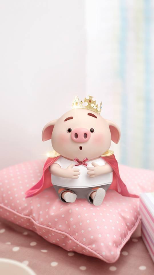 Hình nền chú lợn hồng ủn ỉn trong ngày lễ tình yêu Valentine 14/2 số 8