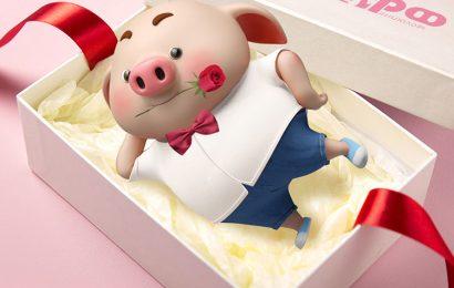 Bộ tuyển tập hình ảnh và hình nền chú lợn hồng chibi chúc mừng sinh nhật dễ thương