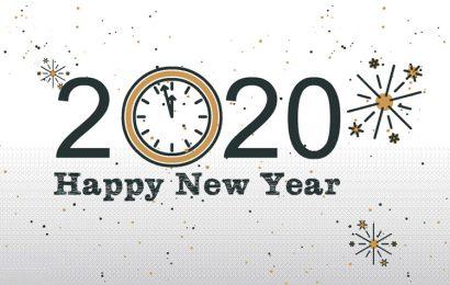 Hình ảnh bức thiệp động chúc mừng năm mới – Happy New Year 2020 canh tý đẹp