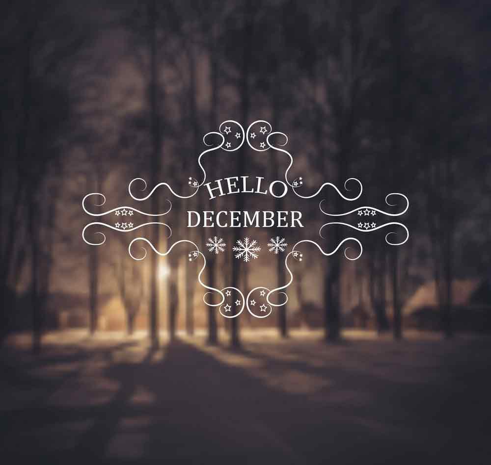bộ hình nền chào tháng 12 - Hello December độc đáo số 13