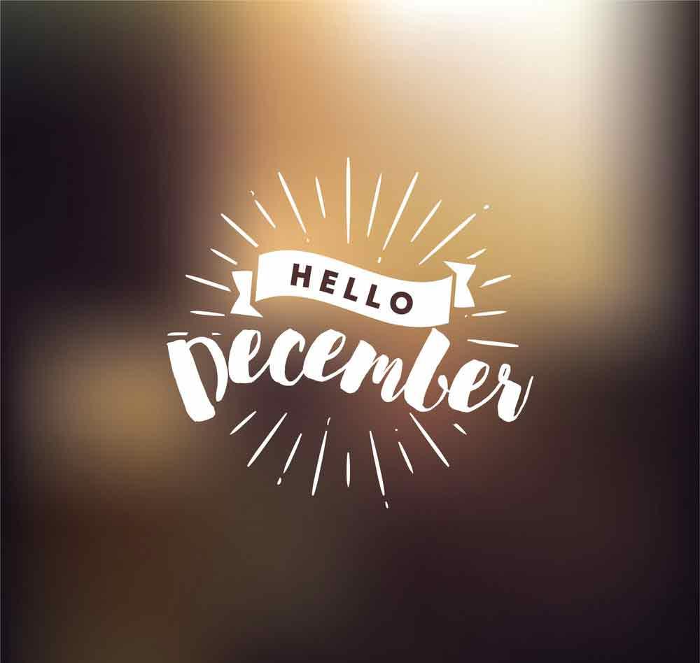 bộ hình nền chào tháng 12 - Hello December độc đáo số 7