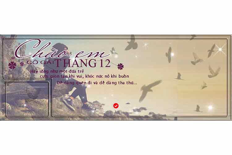 File psd thiết kế cover và ảnh bìa chào em cô gái tháng 12 đẹp