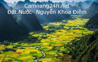 Dàn ý chi tiết và văn mẫu phân tích bài thơ Đất nước của Nguyễn Khoa Điềm