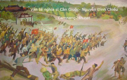 Giáo án bài Văn tế nghĩa sĩ Cần Giuộc (Nguyễn Đình Chiểu)