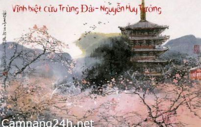 Tìm hiểu chung về Vĩnh biệt Cửu Trùng Đài- Nguyễn Huy Tưởng