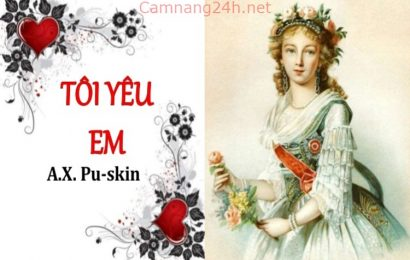 Tài liệu hướng dẫn soạn bài Tôi yêu em (Pu-skin)