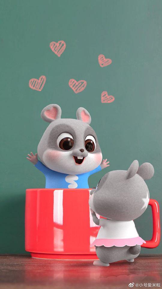 hình ảnh con chuột chibi cho điện thoại dễ thương số 1