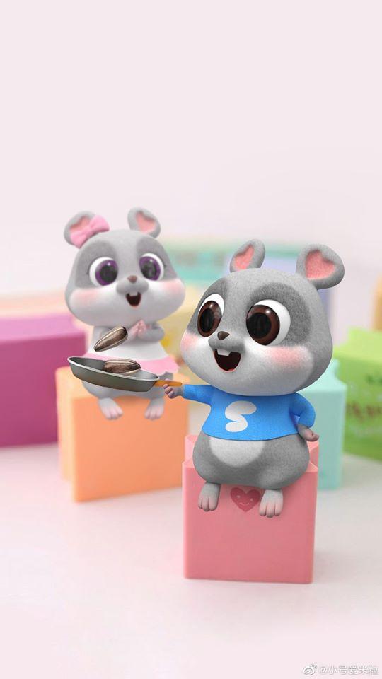 hình ảnh con chuột chibi cho điện thoại dễ thương